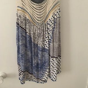 Anthropologie loose fitting tank top with Pom poms
